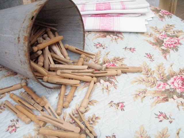 Old clothes pins