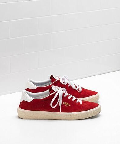 https://www.goldengoosesneakers.fr/  445 : Homme Golden Goose Tennis Sneakers GGDB Suede Rouge BlancWibIm