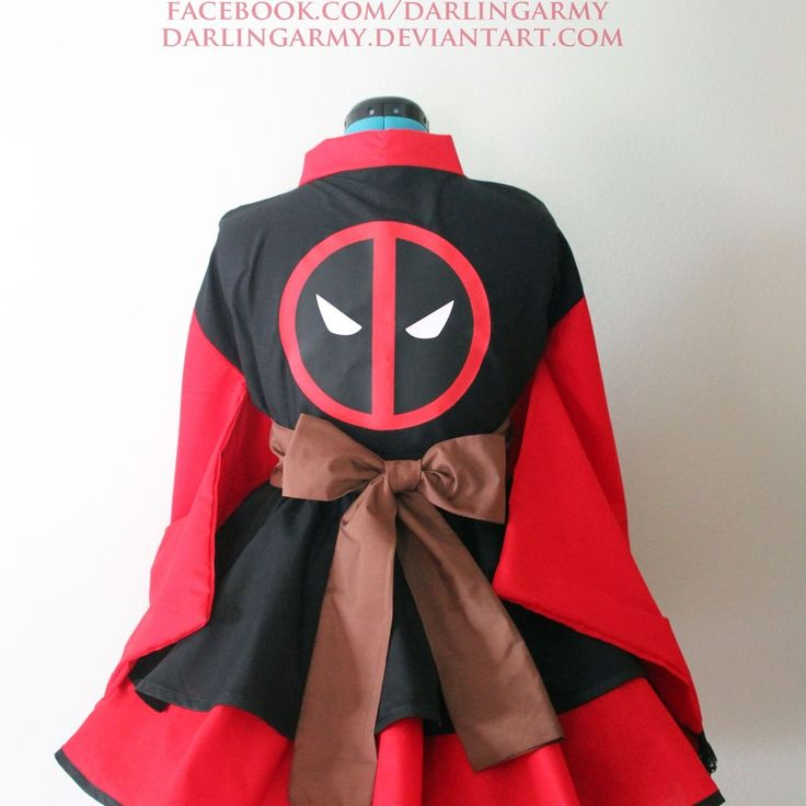 Deadpool Samurai Marvel Cosplay Kimono Dress Wa Lolita Skirt Accessory | Darling Army