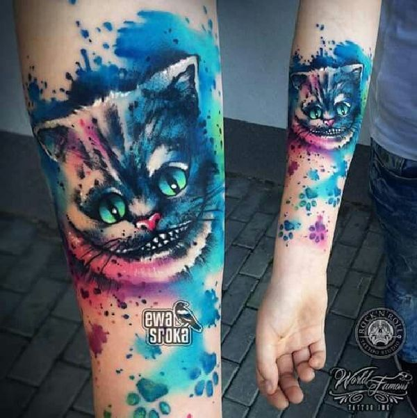 38 besten cheshire cat tattoos bilder auf pinterest grinsekatze tattoo katze t towierungen. Black Bedroom Furniture Sets. Home Design Ideas