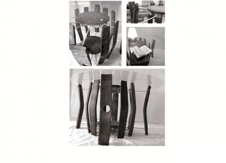 Formabilio - Il progetto BOMBA' si sviluppa a partire da una premessa fondamentale: realizzare un oggetto di design, più precisamente un tavolo, ottimizzando il materiale di cui è costituita una botte di vino e riducendo al massimo le componenti accessorie. L'intenzione è quella di rappresentare, come in un fermo immagine, l'attimo immediatamente successivo all'esplosione di una botte (da cui il nome) cercando di catturare e razionalizzare la geometria di un evento confuso e caotico. Ne…