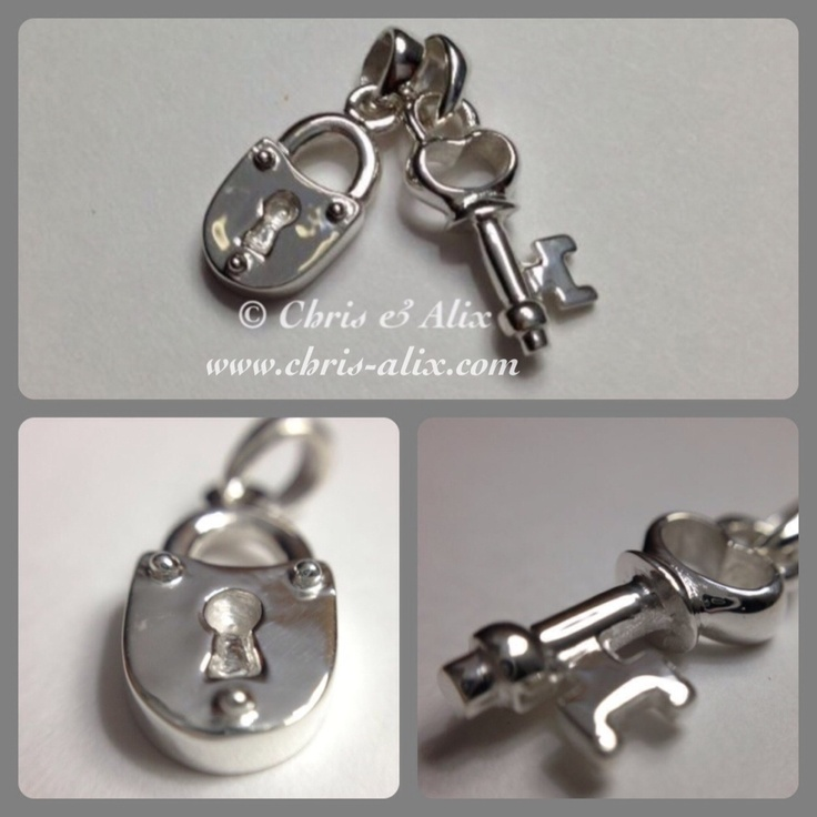 Sterling silver lock and key charms!  So cute as an anniversary gift - the key to your heart!  Get your own, starting at $50