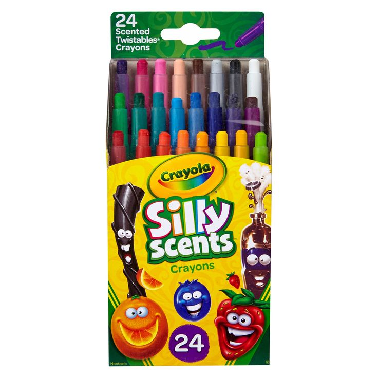 Crayola Silly Scents Twistable Crayons 24ct,
