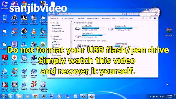 How to fix repair a corrupted usb flash pen drive