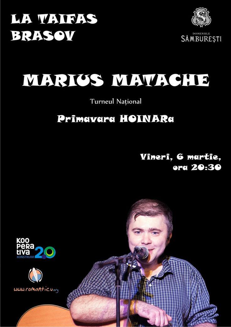 Vineri, 6 martie, Restaurant La Taifas, Brasov. Ora 20:30