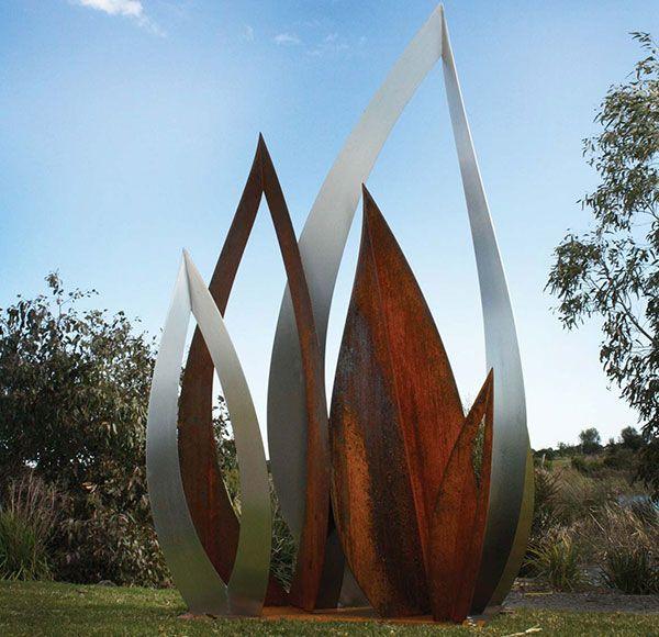 Large Outdoor Corten Sculpture Tanya Ahlsteel Com Www Ahl Corten