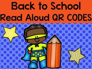 Back to School QR codes for the listening station on the iPad or chromebooks.