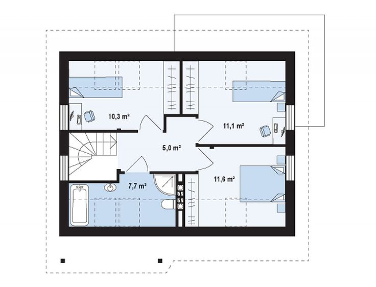 proiecte de casa cu parter si mansarda 2 plan mansarda