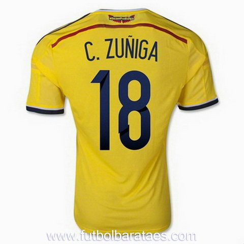 Nueva camiseta de C.Zuniga 1st Colombia 2014-2016