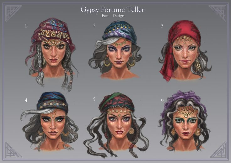 ArtStation - Gypsy Fortune Teller # Face Design, Carrie Le (tags:Fantasy,Concept Art, Character Design)