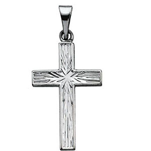 Platinum Cross Pendant - 18.00x12.00mm Gems-is-Me. $297.60. FREE PRIORITY SHIPPING. This item will be gift wrapped in a beautiful gift bag. In addition, a 'gift message' can be added.