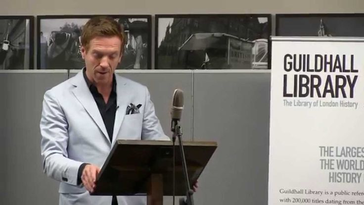 Actor Damian Lewis (BAND OF BROTHERS' Captain Winters) reads Shakespeare's sonnets at Guildhall Library