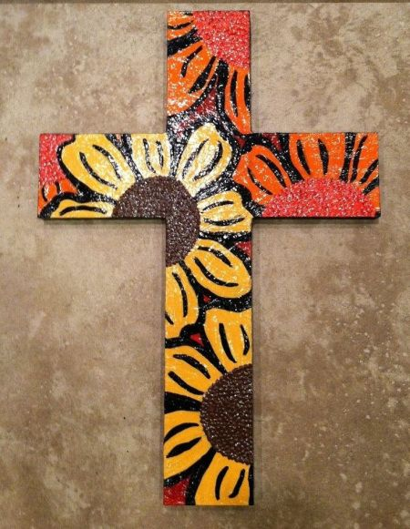 painted wooden crosses  | painted wooden crosses $ 35 each posted in 12 x18 hand painted cross ...