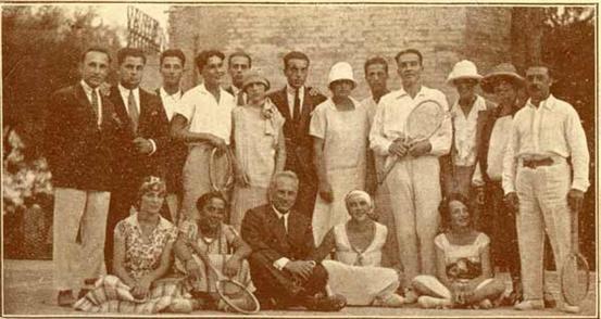 Rimini 1925  Posa di gruppo dei giocatori del Law tennis Club Rimini