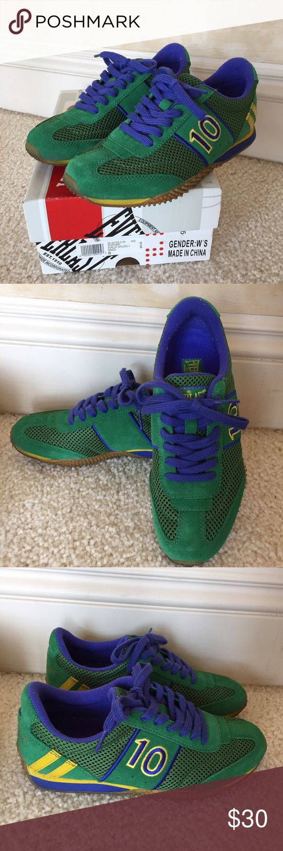 Women's Everlast XPLODE II Tennis Shoes Green Worn once. Nearly new condition. Everlast Shoes Athletic Shoes