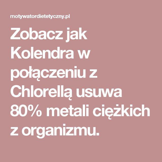 Zobacz jak Kolendra w połączeniu z Chlorellą usuwa 80% metali ciężkich z organizmu.