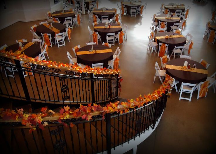 Indoor fall wedding decor bridget did you see this? @Bridget Guest