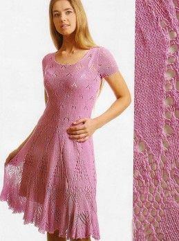 Платье с ажурной юбкой