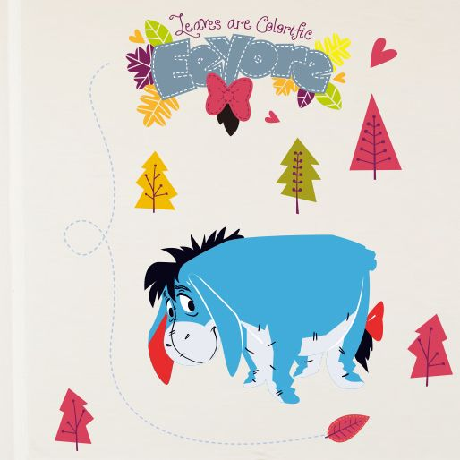 Simple Eeyore Wall Stickers for Kids Baby Rooms Home Decoration Cartoon Winnie the Pooh Wall Decals Art