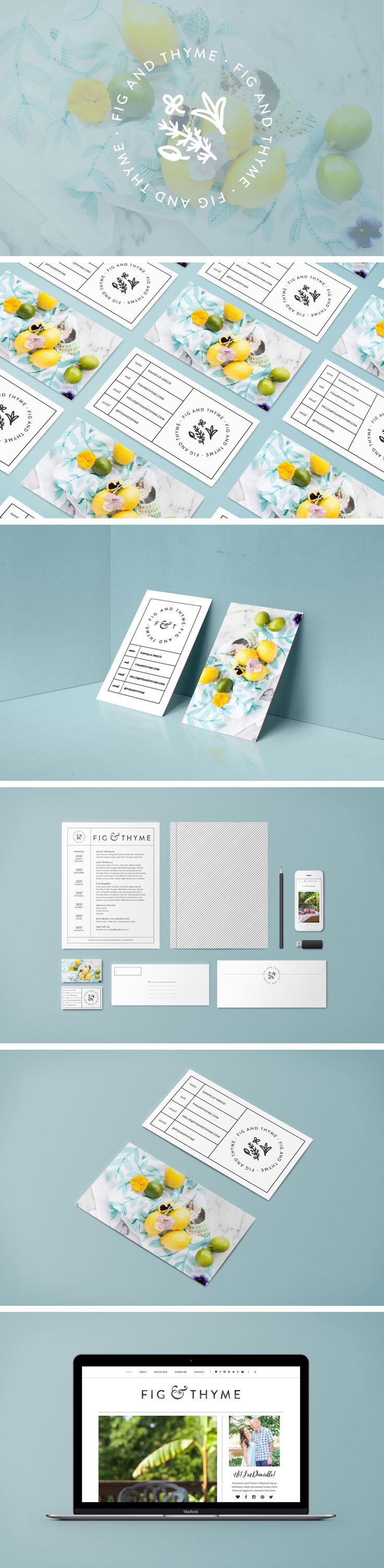 Fig and Thyme: Food Blog Design
