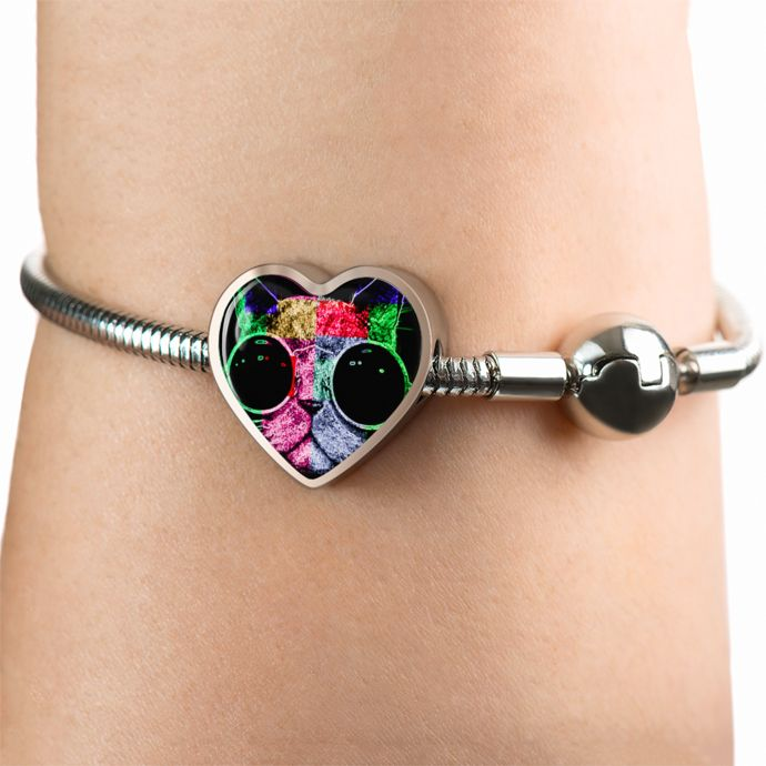Multicoloured Cool Cat Bracelet & Charm Only