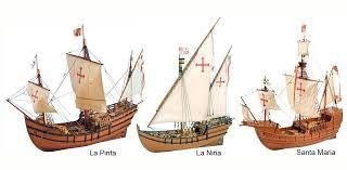 Barcos con los que Cristobal Colon, descubrió la gran América