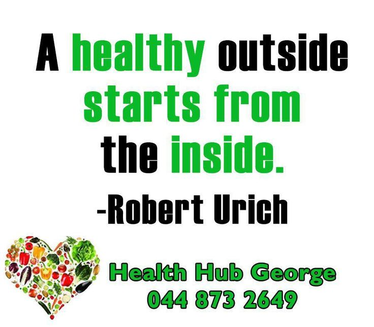 """""""A healthy outside starts from the inside."""" -Robert Urich #HealthHubGeorge #SundayMotivation"""