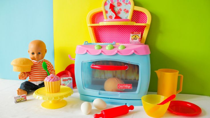 BAKING TOY OVEN for cooking toy food!