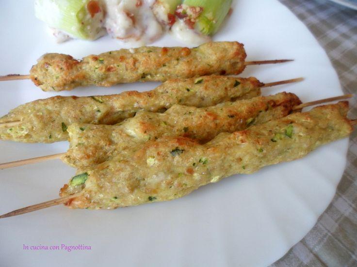 Arrosticini di pollo e zucchine | In cucina con Pagnottina