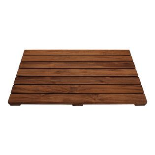 Conair - Acacia Wood Non Slip Bath Mat - This mat provides a uniquely different feel with a brown slatted wood construction. The slatted, sk...