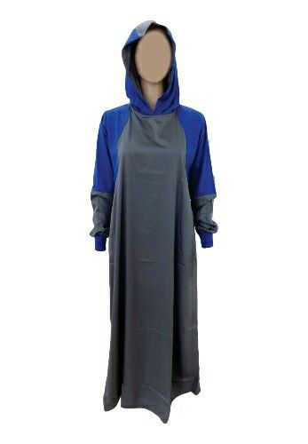 EID ul Adha Women's Sports Abaya Collection #5 Design Nº: 0335 Available Size: 54 to 60, R, L & XL Available Color's: Grey & Royal Blue (Combination of 2 Color's) Fabric: Spun Polyester Price From: 650.00 ZAR More info @ http://kufnees.co.za