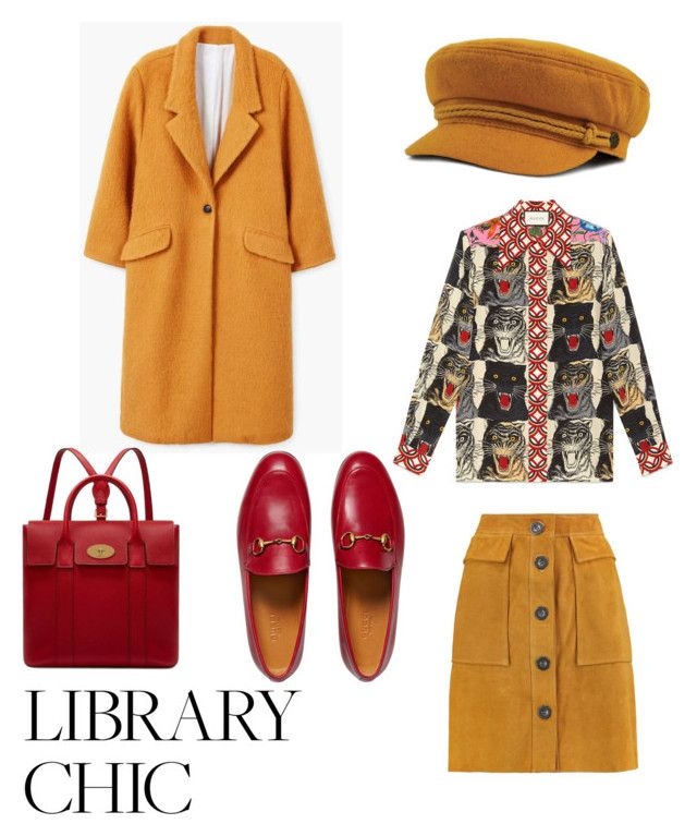 """""""Untitled #130"""" by dariatamasan on Polyvore featuring M.i.h Jeans, Gucci, MANGO and Mulberry"""