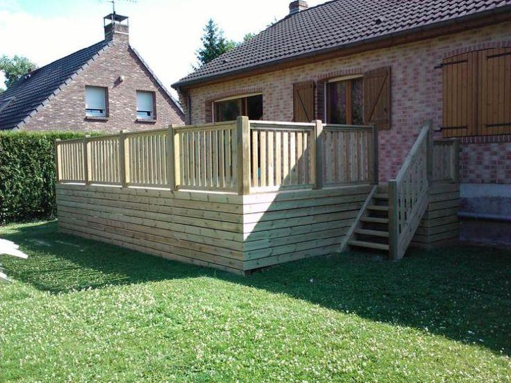 Célèbre Terrasse en bois surélevée | Jardin | Pinterest | Terrasses en  LQ24