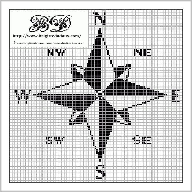 Compass rose, found on : http://www.brigittedadaux.com/2014/06/grille-du-vendredi-objectif-ne-pas-perdre-le-nord.html
