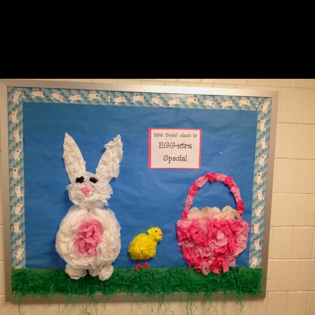 Classroom Easter Ideas : Best easter bulletin boards images on pinterest