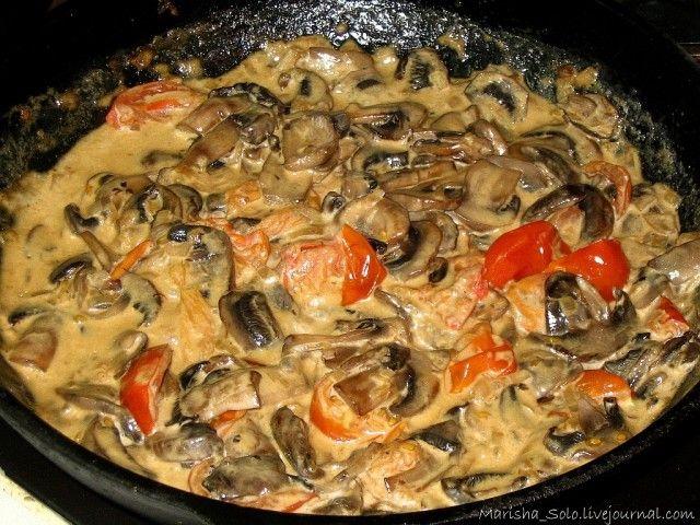 Сливочно-грибной соус - SOLO НА КУХНЕ