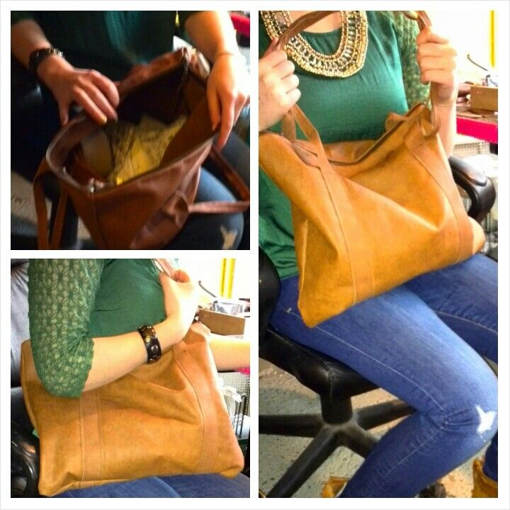 Leather bag diy handmade
