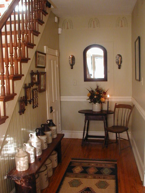 Beautiful Farmhouse Foyer Staircase Entryway Stairs