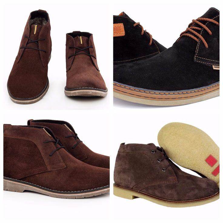 С чем носить замшевые мужские ботинки