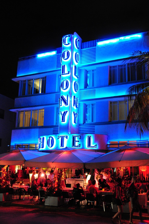 The glamorous Colony Hotel - stay here in the lap of luxury while you book all of your Miami activities on Peek!