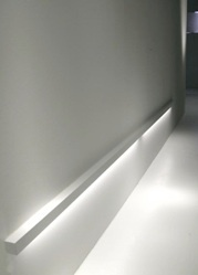 Linear, indirect lighting by Davide Groppi _