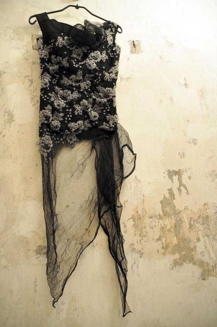 #corset of pearls 100% silk - #fashion #couture #hautecouture #Paris #craft #pearl