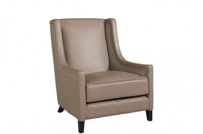 Kelly Hoppen Stol Chair Leather Taupe Beige Artwood Www