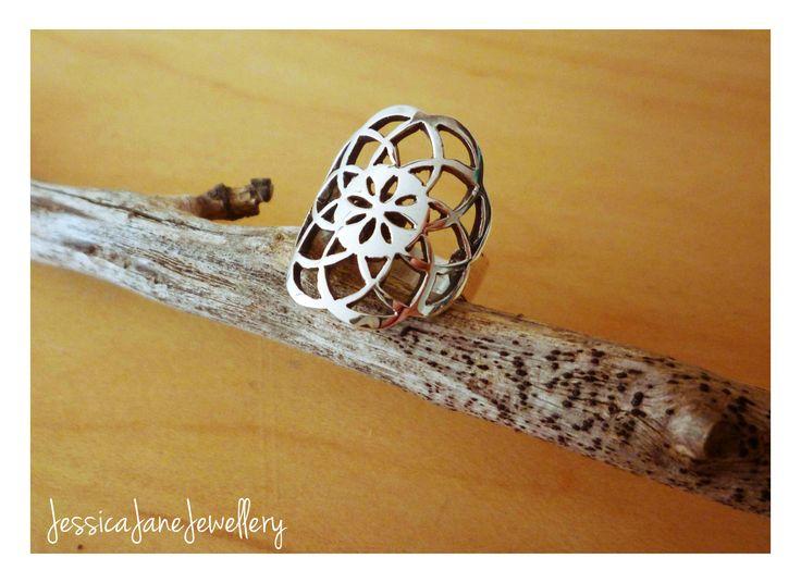 Handmade Dream Catcher Ring - Silver