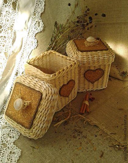 """Корзины, коробы ручной работы. Ярмарка Мастеров - ручная работа """"Мокко"""" Набор для кухни. Handmade."""