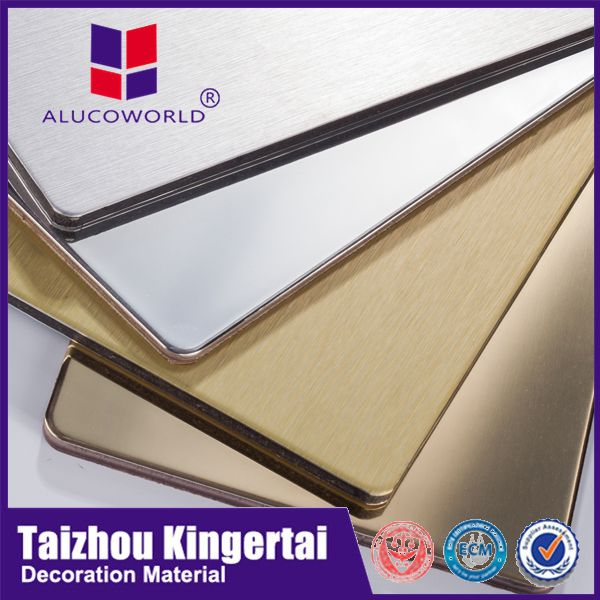 Alucoworld diversified latest designs standard size 1220mmX2440mm acp acme brick prices