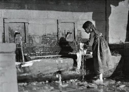 Girl at the tap. Metsovo, Greece, 1913, by Fréderic Boissonnas