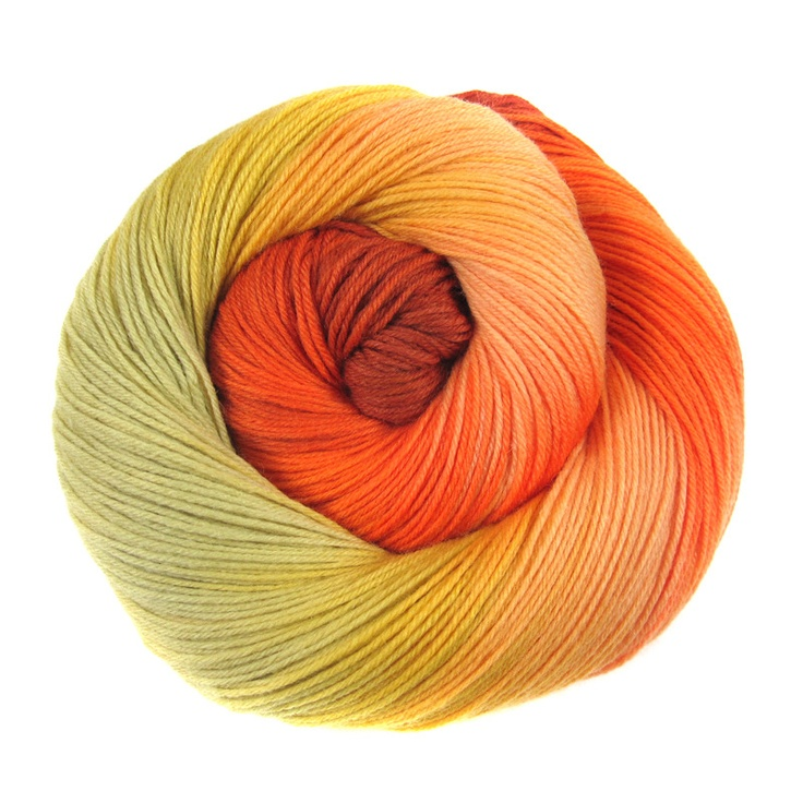 Manchester Sock Yarn - Pomegranate Blossom by into the whirled