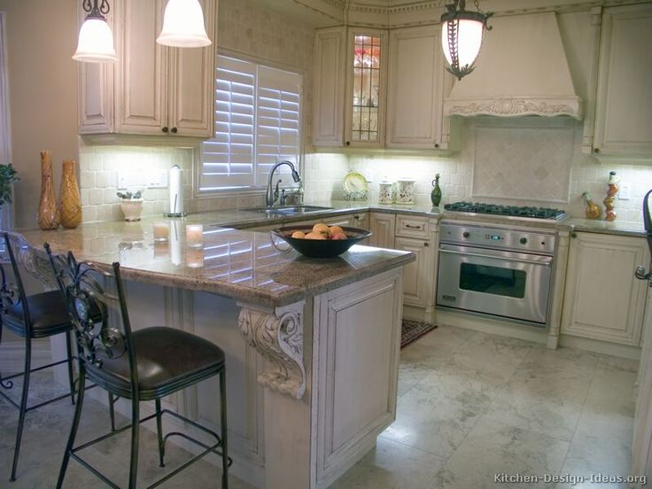 73 Best Images About Antique White Kitchens On Pinterest