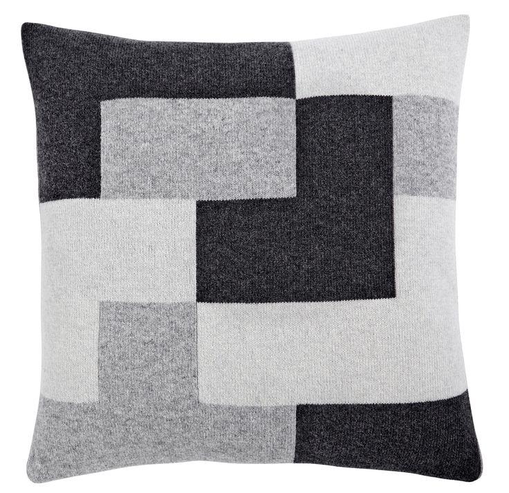 Puzzle cushion, grey